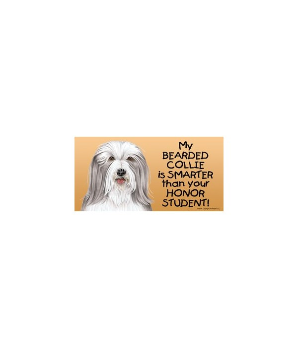 My Bearded Collie is smarter than your h