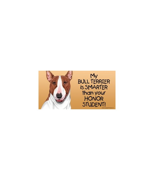 My Bull Terrier (Brown and white color)
