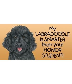 My Labradoodle (Black) is smarter than y