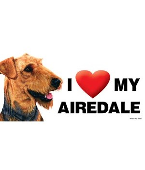 I (heart) my Airedale 4x8 Car Magnet