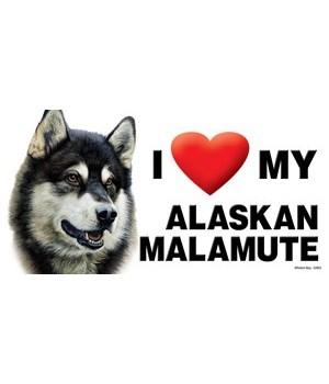 I (heart) my Alaskan Malamute 4x8 Car Ma