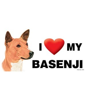 I (heart) my Basenji 4x8 Car Magnet