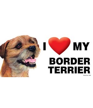 I (heart) my Border Terrier 4x8 Car Magn