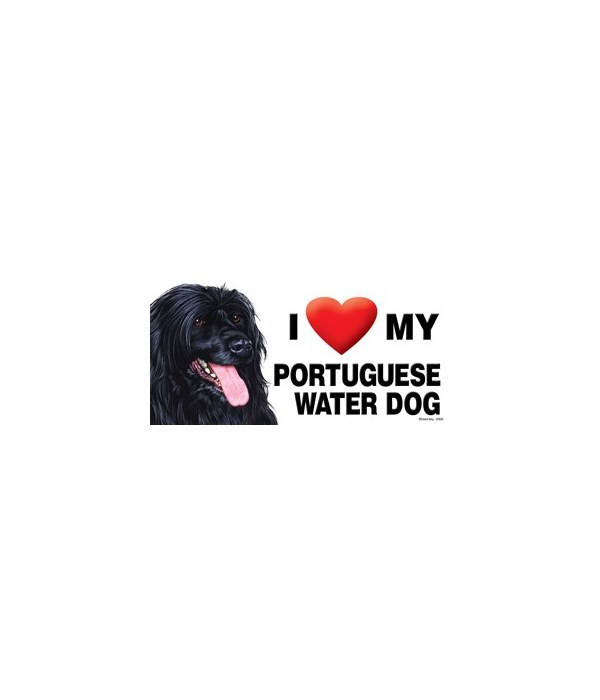 I (heart) my Portuguese Water Dog 4x8 Ca