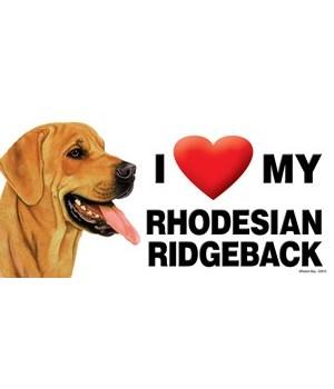 I (heart) my Rhodesian Ridgeback 4x8 Car