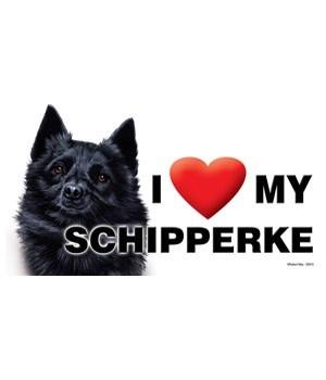 I (heart) my Schipperke 4x8 Car Magnet