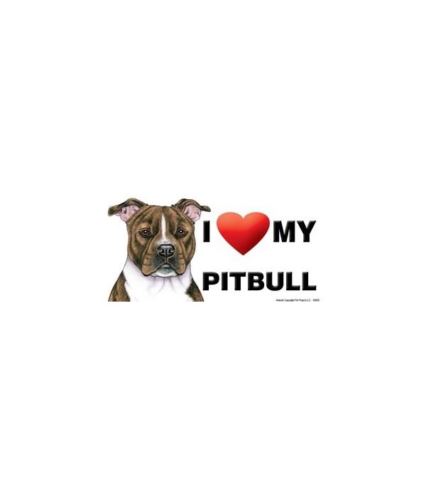 I (heart) my Pitbull (Brindle) 4x8 Car M