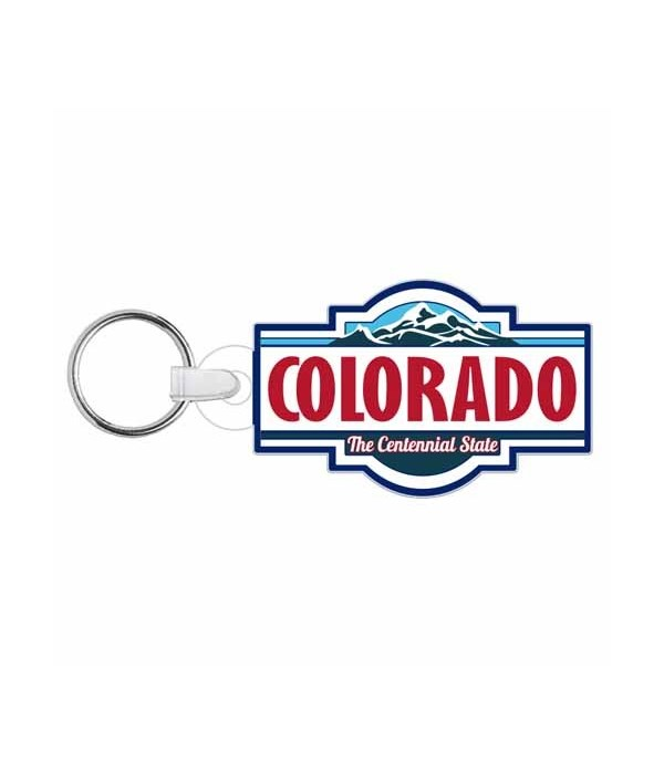 CO Keychain Acrylic Die-Cut State Label