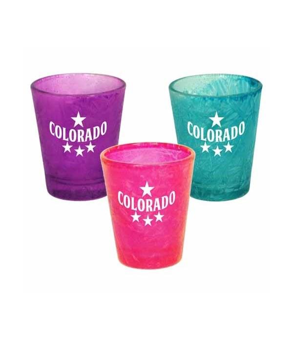 CO Shotglass Ice Crack 3/A