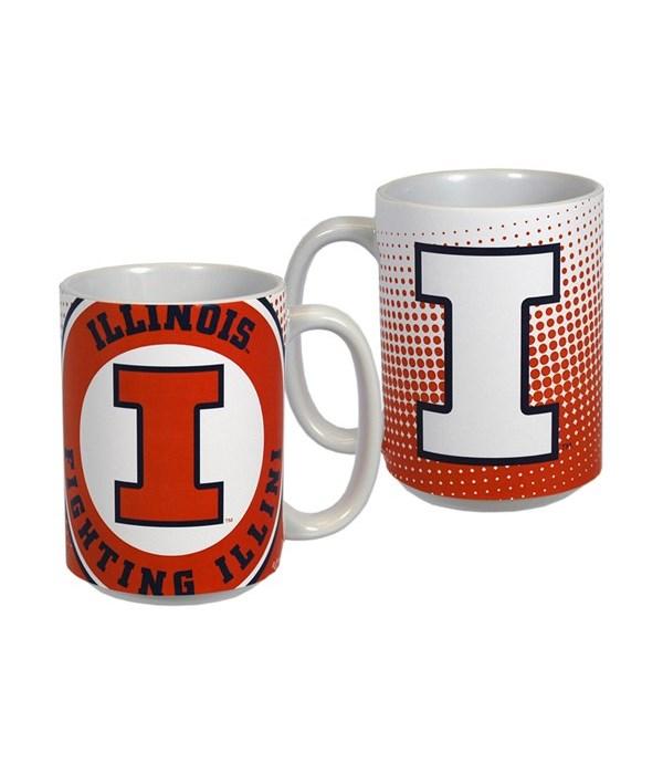 U-IL Mug Ceramic Grande Dot Pattern 15oz