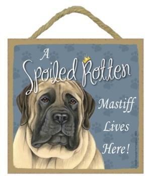 English Mastiff Spoiled 5x5 Plaque