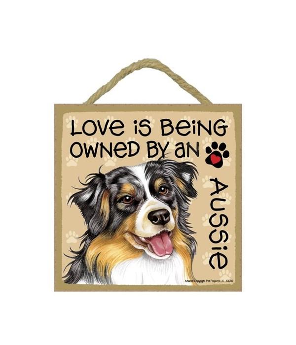 Aussie Love Is.. 5x5 plaque