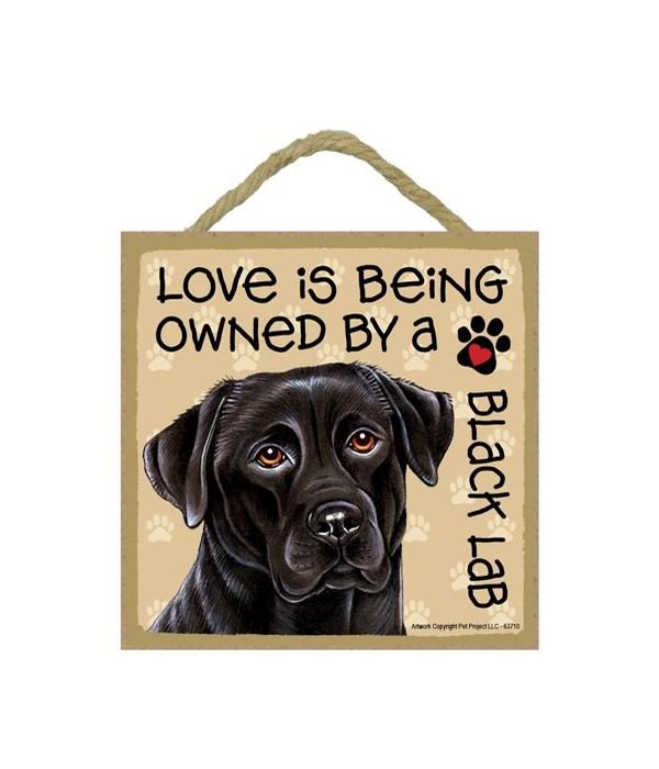 Black Lab Love Is.. 5x5 plaque