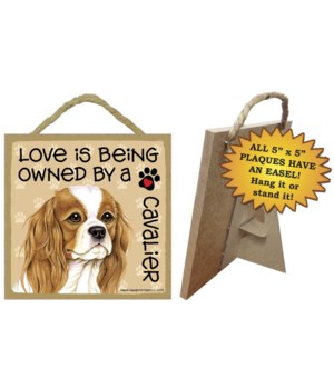 Cavalier King Charle Love Is..5x5 plaque