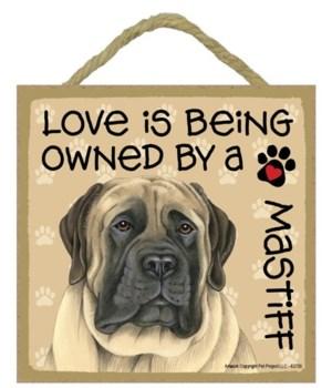English Mastiff Love Is.. 5x5 plaque