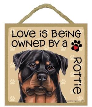 Rottweiler Love Is.. 5x5 plaque