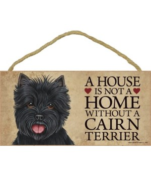 Cairn Terrier (black) House 5x10