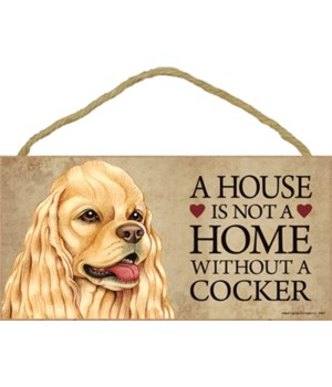 Cocker (Spaniel, tan color) House 5x10
