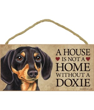 Doxie (Dachshund, black and tan) House 5