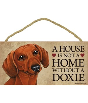 Doxie (Dachshund, brown) House 5x10