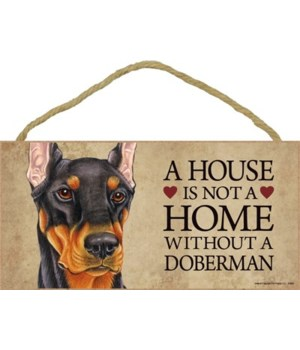 Doberman (Black) House 5x10