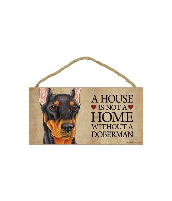 Doberman (Black) House 5x10