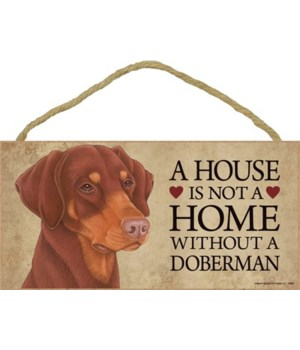 Doberman (Red, dropped ears) House 5x10