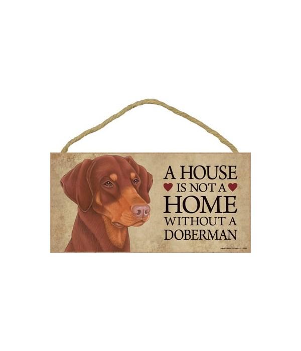 Doberman (Red, dropped ears) House 5x10