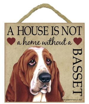 Basset House 5x5 Plaque