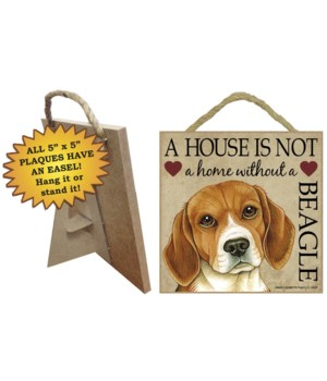 Beagle House 5x5 Plaque