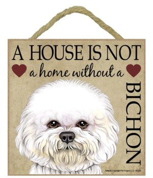 Bichon House 5x5 Plaque