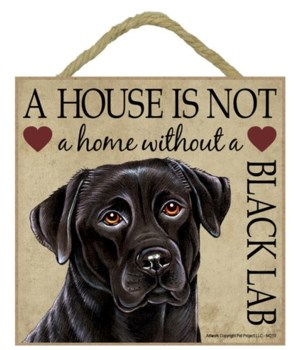Black Lab House 5x5 Plaque