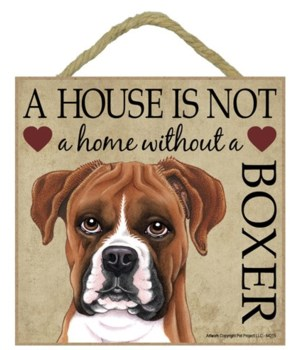 Boxer (uncropped) House 5x5 Plaque