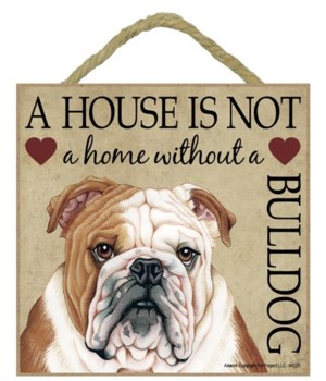 Bulldog House 5x5 Plaque