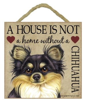 Chihuahua (Blk & Tan) House 5x5 Plaque