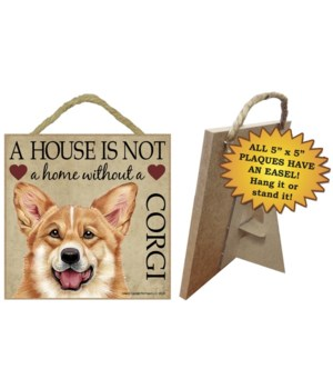 Corgi House 5x5 Plaque
