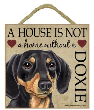 Dachsund (Blk & Tan) House 5x5 Plaque