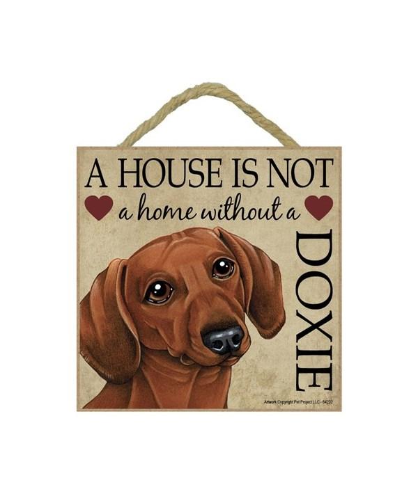Dachshund (Brown) House 5x5 Plaque