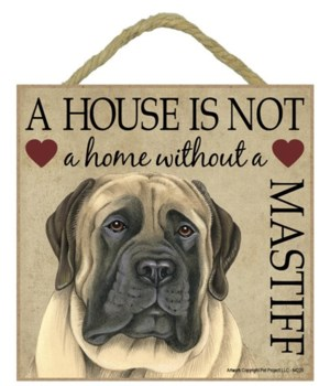 English Mastiff House 5x5 Plaque
