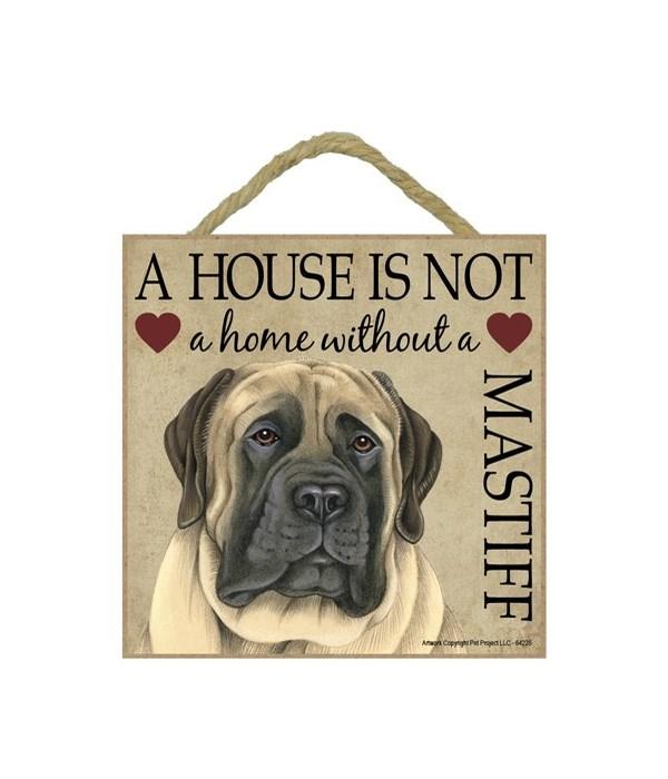 English Mastiff House 5x5 Plaque