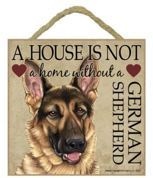 German Shepherd House 5x5 Plaque