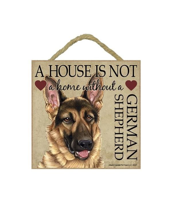 German Shepherd House 5x5 Plaque