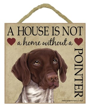 German Short-Hair Pointer House 5x5 Plaq
