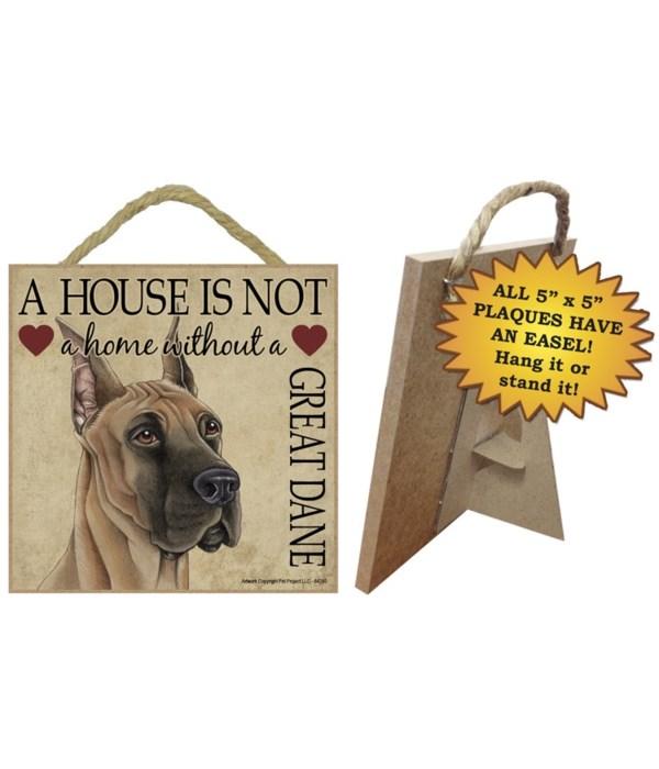 Great Dane House 5x5 Plaque