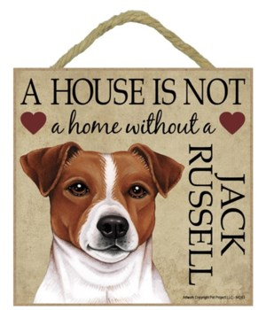 Jack Russell House 5x5 Plaque