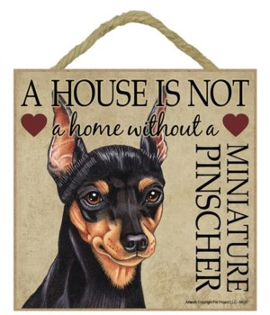 Miniature Pinscher House 5x5 Plaque