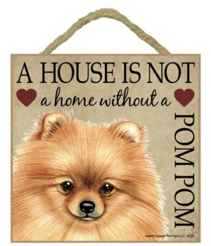 Pomeranian House 5x5 Plaque