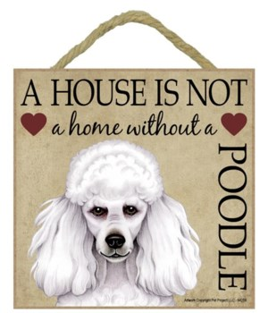 Poodle ( White) House 5x5 Plaque