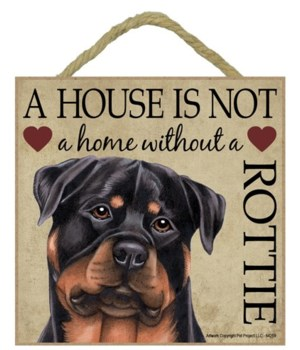 Rottweiler House 5x5 Plaque