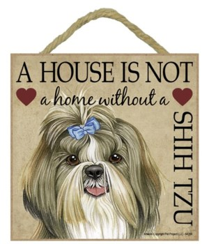 Shih Tzu House 5x5 Plaque